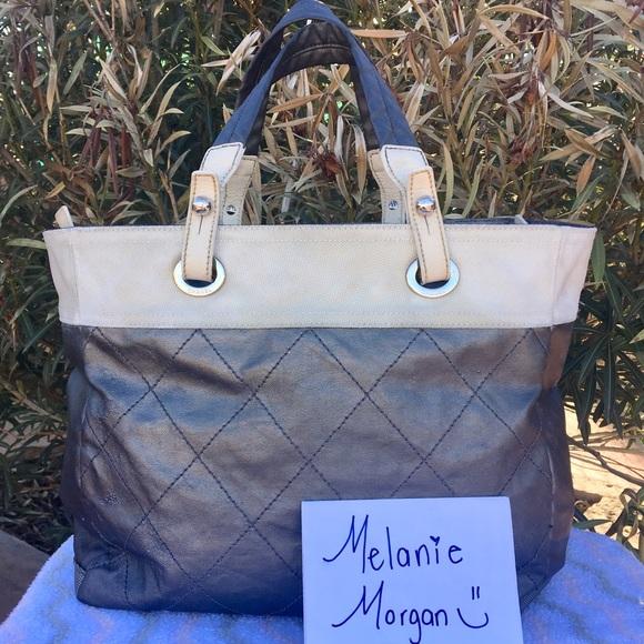 37f7b1d887db CHANEL Handbags - 100% Authentic CHANEL Silver Paris Biarritz Tote